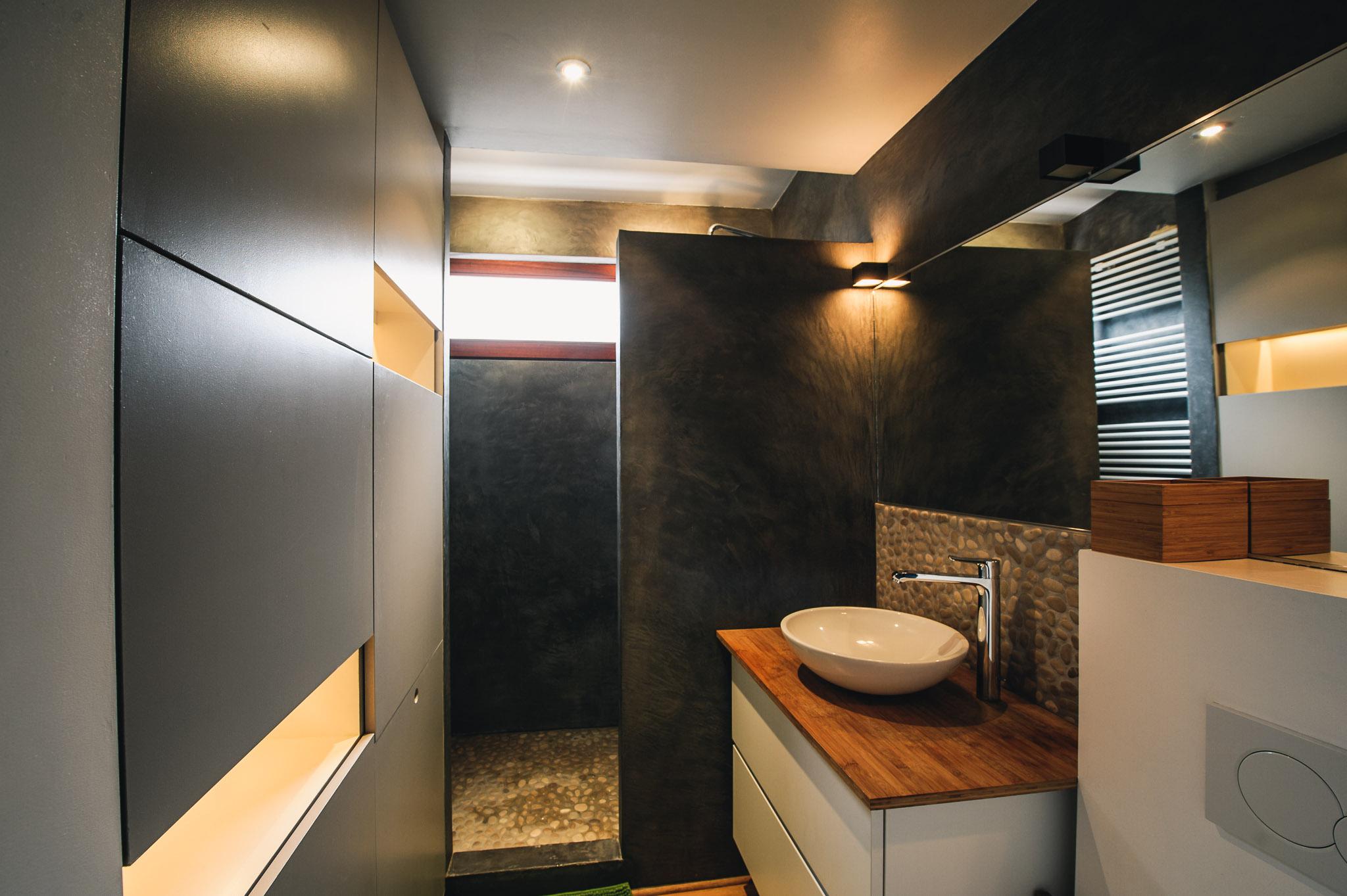 Salle De Bain En Mortex r�novation de salle-de-bain - architecture d'int�rieur