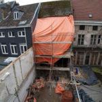 Façade en intérieur d'îlot Liège